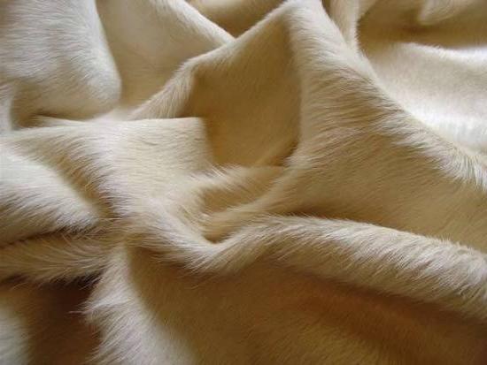 Peau de vache zoom blanc beige