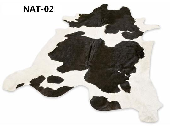 peau-de-vache-naturelle noire et blanche